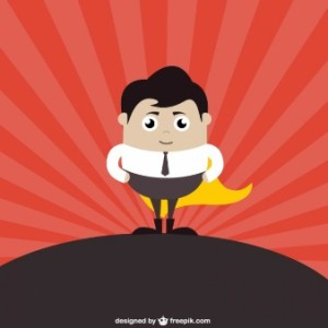 Businessman Superhero - vector credits: Freepik