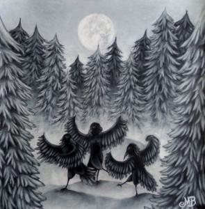 Dansande kråkor