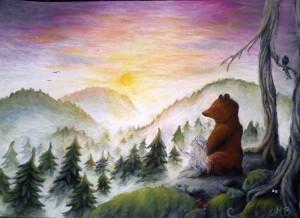 Meja-och-björnen-Vinka-godnatt-till-solen